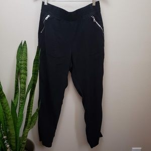 Chico's Black Jogger Casual Pants .5 6 small